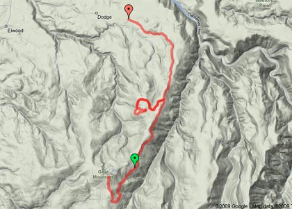 Goat Mountain Trip Map