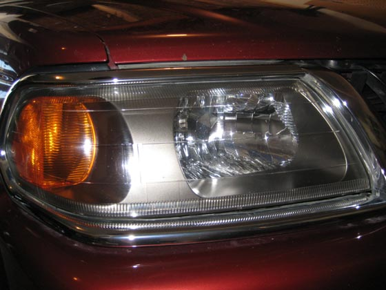 After Headlight Restoration - Plastic Polishing
